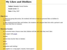 My Likes and Dislikes Lesson Plan