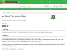 My School Year Memory Book Lesson Plan