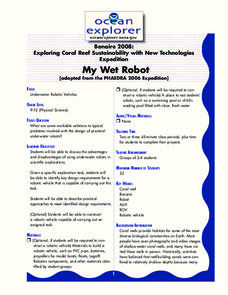 My Wet Robot Lesson Plan