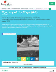 Mystery of the Maya Lesson Plan