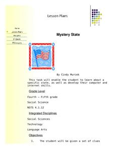 Mystery State Lesson Plan
