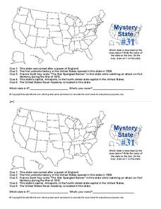 Mystery State #31 Worksheet