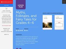 Myths, Folktales, & Fairy Tales Lesson Plan