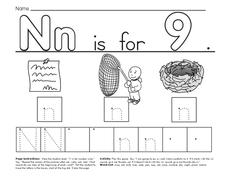N is for Nine Worksheet