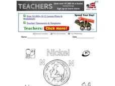 N is for Nickel Worksheet