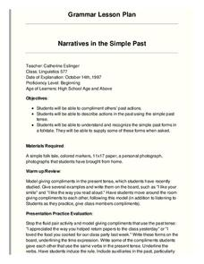 Narratives in the Simple Past Lesson Plan