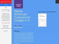 Native American Cultures for Grades 4-5 Lesson Plan