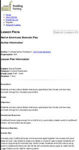 Native Americans Dramatic Play Lesson Plan