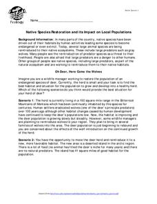 Native Species Restoration and its Impact on Local Populations Lesson Plan