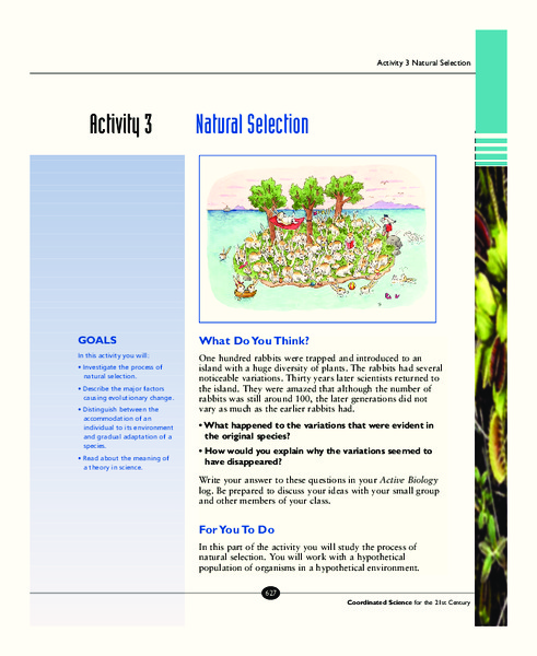 Natural Selection Activities & Project