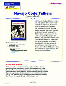 Navajo Code Talkers Lesson Plan