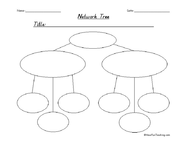 Network Tree Graphic Organizer