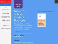 New to School Student Booklets Lesson Plan