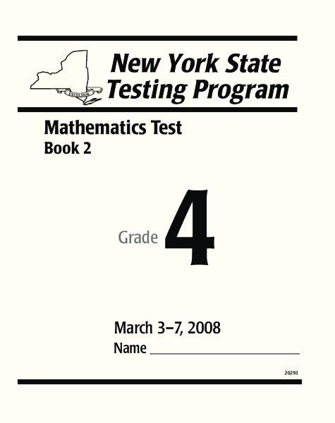 New York State Math Test Grade 4 Worksheet for 4th Grade