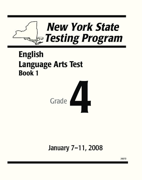 New York State Language Arts Test Grade 4 Worksheet for