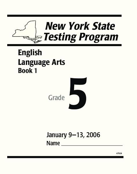 New York State Testing Program: English/Language Arts Book