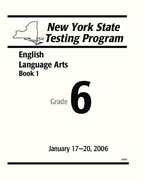 New York State Testing Program: English/Language Arts Book