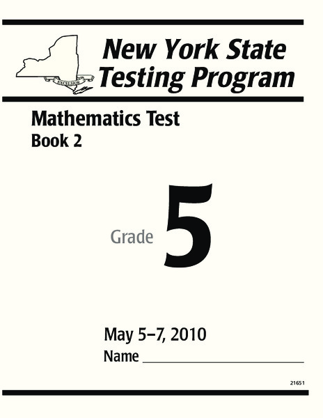 New York State Testing Program: Mathematics Book 2, Grade