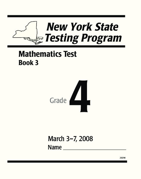New York State Testing Program: Mathematics Book 3, Grade