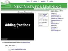Adding Fractions Video
