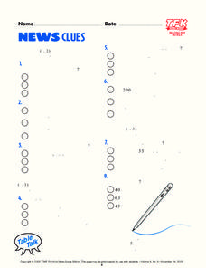 News Clues Lesson Plan