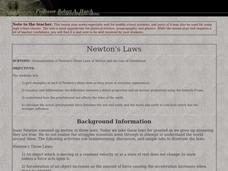 Newton's Laws Lesson Plan
