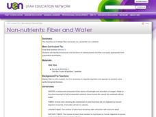 Non-Nutrients: Fiber and Water Lesson Plan