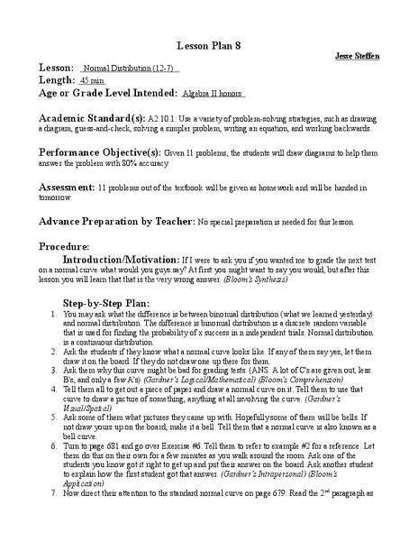Binomial Distribution Lesson Plans Worksheets Lesson