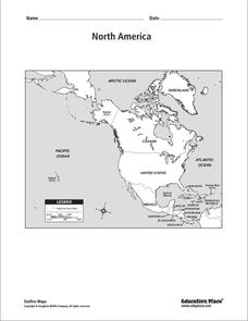 North America Map Worksheet