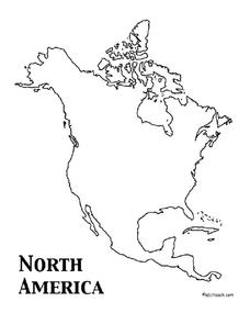 North America Outline Map Worksheet
