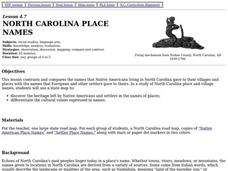 North Carolina Place Names Lesson Plan