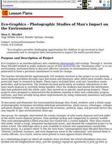 Eco-Graphics - Photographic Studies of Man's Impact on the Environment Lesson Plan