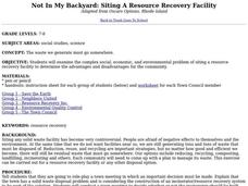 Not in My Backyard: Siting a Resource Recovery Facility Lesson Plan