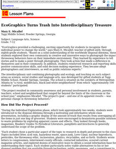 Ecographics Turns Trash Into Interdisciplinary Treasure Lesson Plan