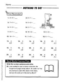 Nothing to Do! Worksheet