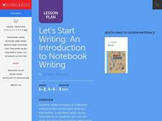 Notebook Writing Lesson Plan