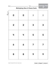 Number Cards Printables & Template