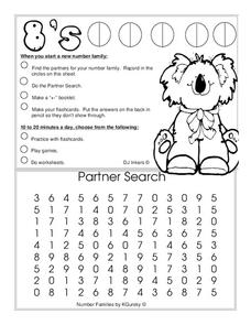 Number Families Worksheet