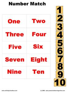 Number Match Worksheet