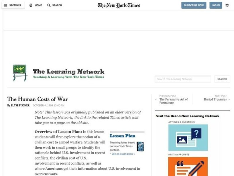 The Human Costs of War Lesson Plan