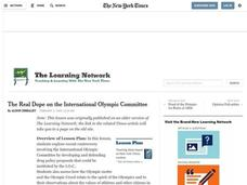 The Real Dope on the International Olympic Committee Lesson Plan