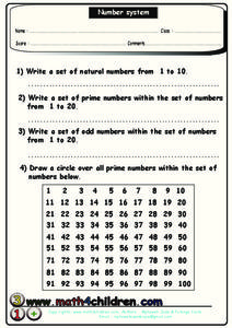 Number System Worksheet