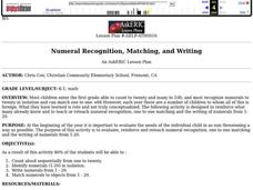 Numeral Recognition, Matching, and Writing Lesson Plan