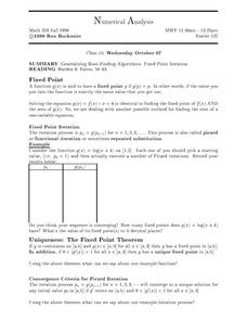 Numerical Analysis Worksheet