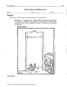 Observations And Inferences Worksheet