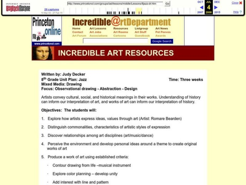 Observational Drawing Lesson Plan