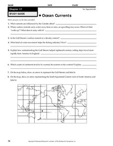Ocean Currents Worksheet