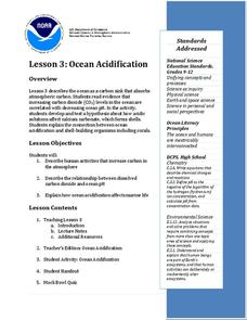 Ocean Acidification Lesson Plan