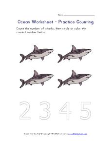 Ocean Worksheet - Practice Counting Worksheet