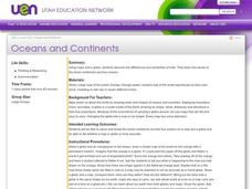 Oceans and Continents Lesson Plan